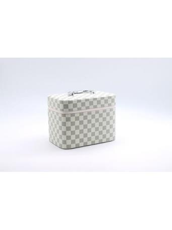 Jewelry Box In Designer Print 3Pc Set WHITE