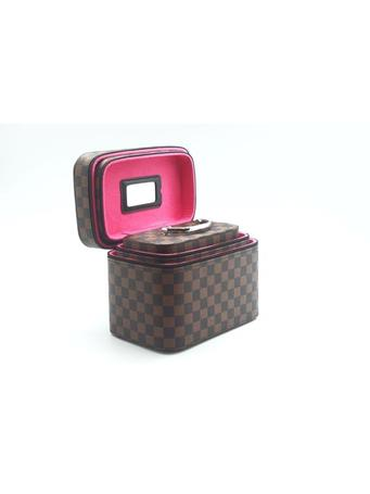 Jewelry Box In Designer Print 3Pc Set BROWN