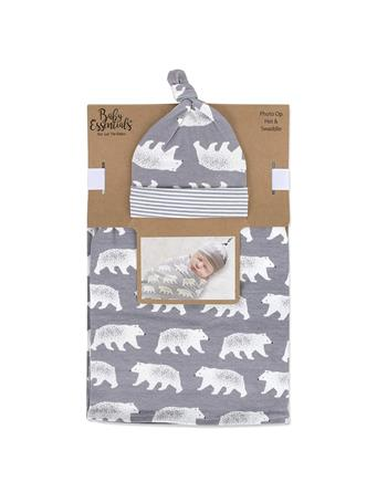 BABY ESSENTIALS - Photo Op Hat & Swaddle Set - Bears {#color}