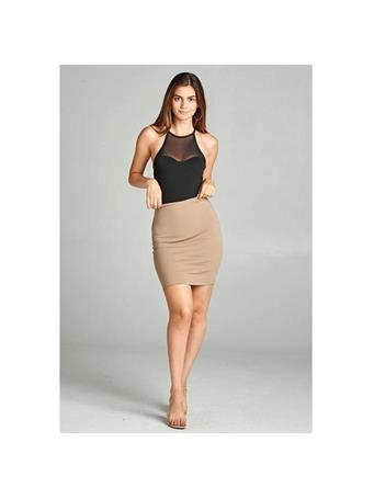 ACTIVE BASIC - Fitted Ponte Mini Skirt {#color}