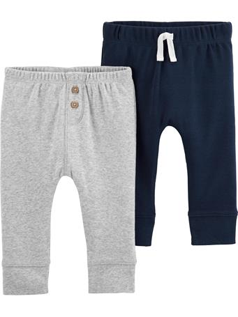 CARTER'S - 2 Pack Pull-On Comfy Pants  No-Color