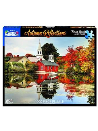 WHITE MOUNTAIN - Autumn Reflections 1000 Piece Puzzle M50530 ROLL