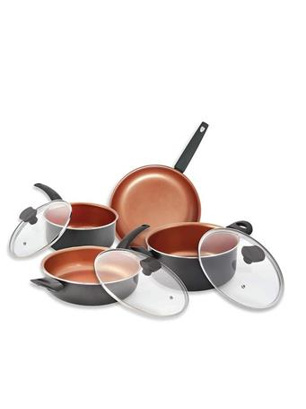 IKO - 16Pc Ceramic Copper Cookware Set With Utensils No-Color