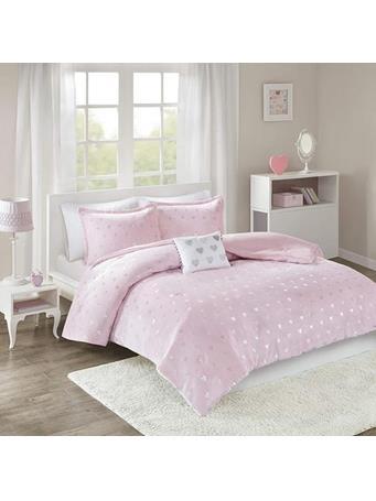 Comforter Mi Zone 3 Piece Rosalie Metallic Plush   {#color}