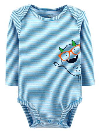 CARTER'S - Long Sleeve Monster Onesie  No-Color