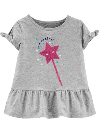 CARTER'S - Glitter Wand Peplum Top, Toddler Girl {#color}