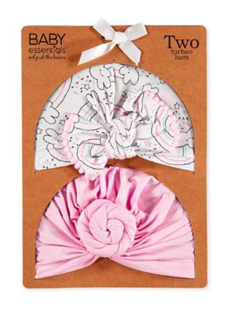 BABY ESSENTIALS - Set of 2 Turban Hats {#color}