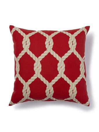 BRENTWOOD ORIGINALS - Rope Lattice Indoor/Outdoor Decorative Pillow  014-ROPE-LATTICE