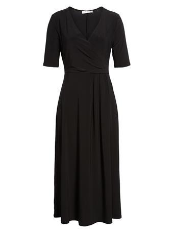 CHAUS - Linda Roll-Tab Shirt Dress BLACK
