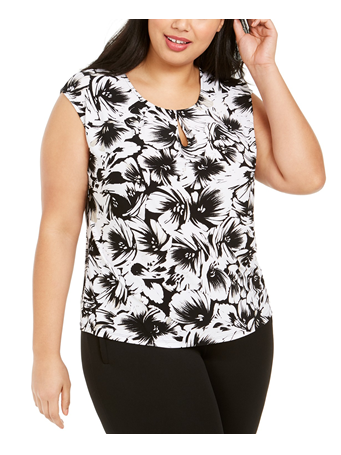 CAP SL ABSTRACT FLORAL CAMI {#color}