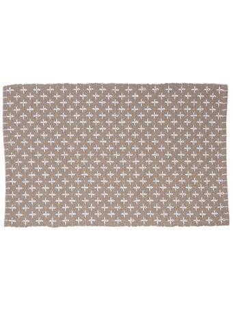 HOME ESSENTIALS - Cotton Scatter Rug-Beige Cross Stitch BEIGE-XSTITCH