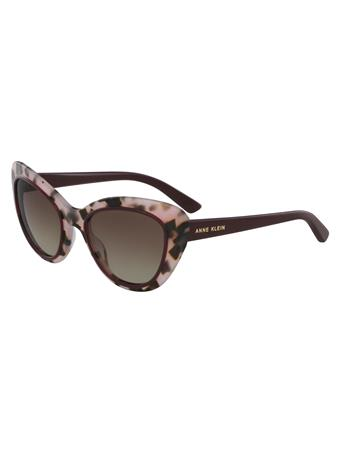 ANNE KLEIN Cat Eye Frame Sunglasses BLUSH-TORT