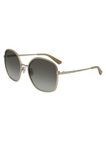 ANNE KLEIN Square Shape Sunglasses GOLD