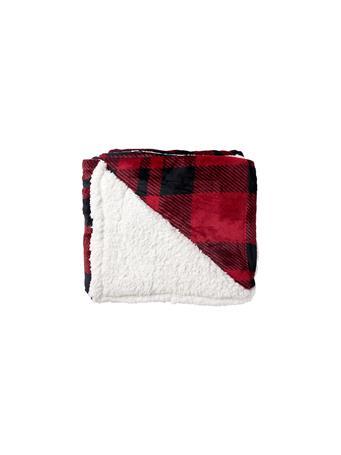 SIGNATURE DESIGN - Buffalo Plaid Red Throw RED