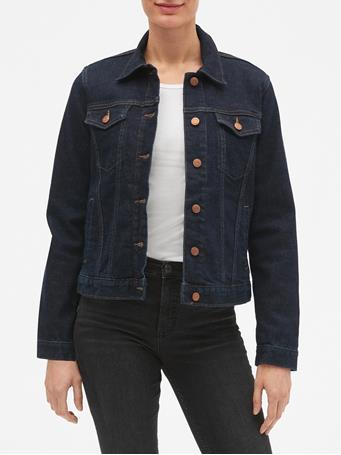 GAP - Dark Blue Denim Jacket INDIGO-RINSE