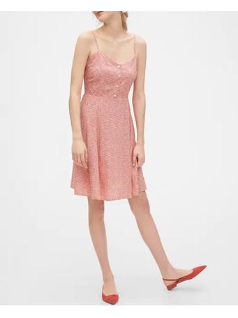 GAP - Cami Fit & Flare Dress -PINK-FLORAL