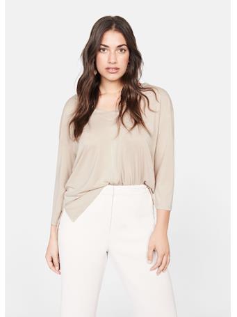 Violeta by MANGO - Bolena Modal T-Shirt 5-NATURAL-WHITE