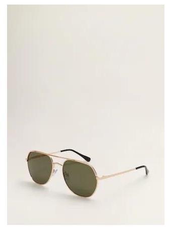 MANGO - Aviator Sunglasses - Dark Green {#color}