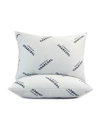 Essence Of Charcoal Knit Jumbo Pillow WHITE