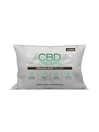 CBD DREAMS - CBD Infused Jumbo Pillow WHITE