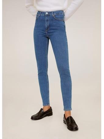 MANGO - High Waist Skinny Noa Jeans TM-MED-BLUE