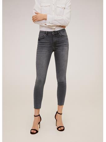 MANGO - Isa Crop Skinny Jeans GRAY