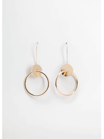MANGO - Hoop Pendant Earrings OR-GOLD