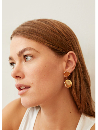 MANGO - Two Pieces Earrings OR-GOLD