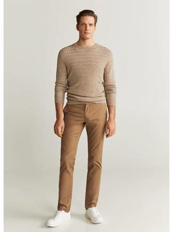 MANGO - Borne6 Trousers 31TOBACCO