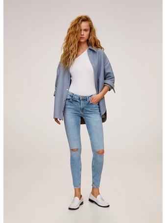 MANGO - Kim Skinny Push-Up Jeans - Bleach Blue BL-LIGHT-BLUE