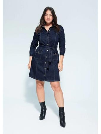 Violeta by MANGO - Ashley Belted Denim Dress {#color}