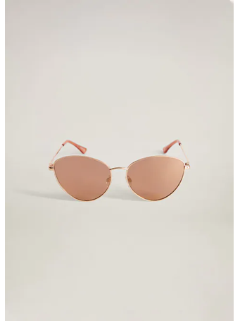 MANGO - Cat-Eye Sunglasses GOLD