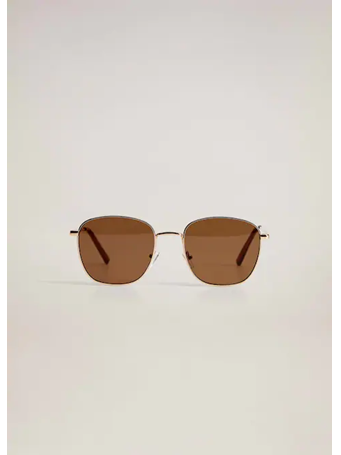 MANGO - Metal Sunglasses 32-BROWN