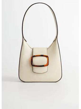 MANGO - Tortoiseshell Buckle Bag OFF-WHITE