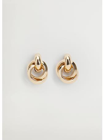 MANGO - Alexa Intertwined Earrings GOLD