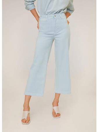 MANGO - Jeans Culotte High Waist MED-BLUE
