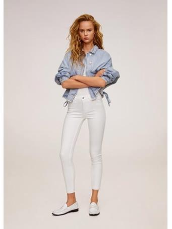 MANGO - Kim Skinny Push-Up Jeans - White WHITE
