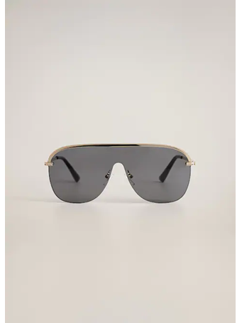 MANGO - Aviator Sunglasses GOLD