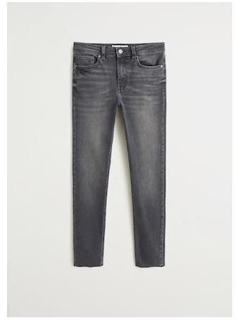 MANGO - High Waist Skinny Noa Jeans TG-DK-GRAY