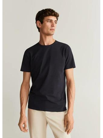 MANGO - Stretch T-Shirt 56NAVY