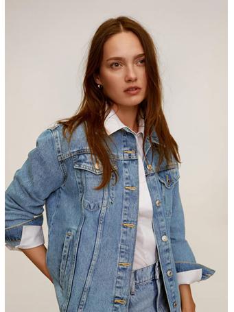 MANGO - Oversize Denim Jacket TM-MED-BLUE