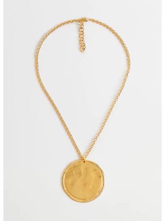 MANGO - Metallic Medal Necklace GOLD
