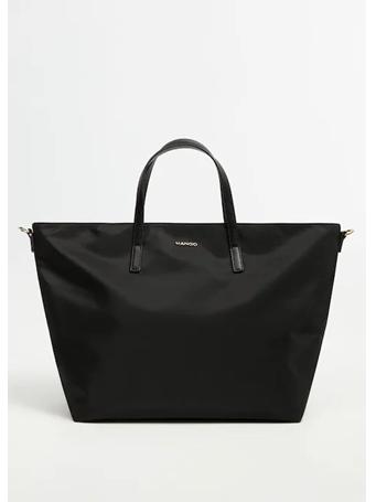 MANGO - Nylon Shopper Bag BLACK