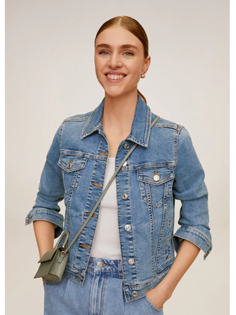 MANGO - Light Denim Jacket MEDIUM-BLUE