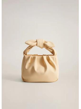 MANGO - Small Knot Bag YELLOW