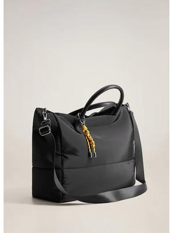 MANGO - Technical Fabric Shopper Bag BLACK