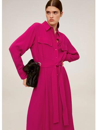 MANGO - Pockets Shirt Dress 88-BR-PINK