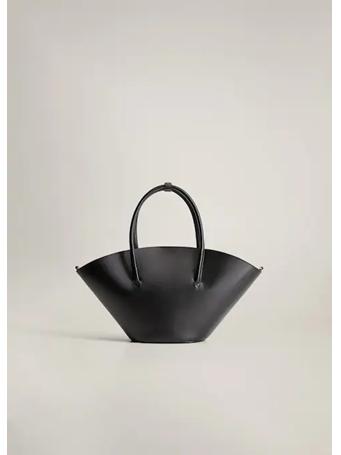 MANGO - Double Strap Basket Bag BLACK