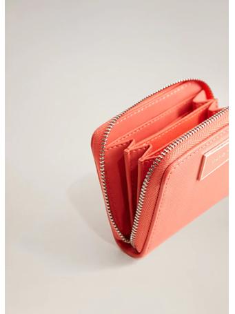 MANGO - Saffiano-Effect Wallet RED