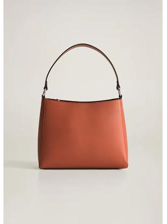 MANGO - Double Strap Bag - Burnt Coral {#color}
